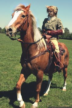 Link and Epona... You see this epic shot here? I want a horse for this exact reason. I'd name it Epona and I'd ride around on her in a Link costume! Yes, I would do that. No, I would not have shame in it because it would be wicked awesome :D