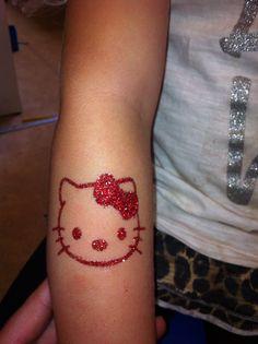 Hello Kitty glitter tattoo by Little Lionhearts :)