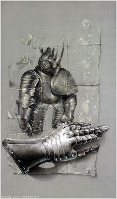 Rhinoceros Armour I (John Howe)