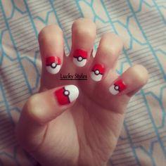 Poké Ball Nails...