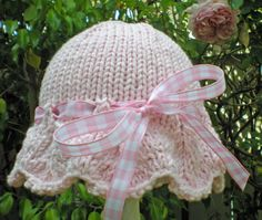 Sweet Hand Knit Baby Sun Hat  / Sunhat Baby by HollyLaneTreasures, $22.00