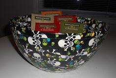 DIY Duck Tape Halloween Trick-or-Treat Bowl
