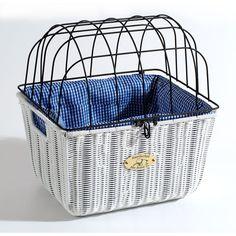 dog baskets for a bike | White Somerset Small Dog Bike Basket | MonsterMarketplace.com