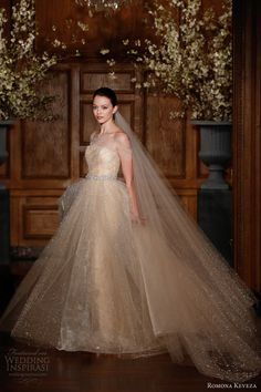 Romona Keveza Collection Bridal Spring 2014 Future Wedding Dress Glittery Ball Gown.  Truly Be A Princess On Your Special Day!