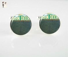 John Deere Cufflinks - Groom cufflinks and tie clips (*Amazon Partner-Link)
