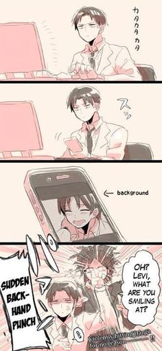Levi, you cheeky boy!