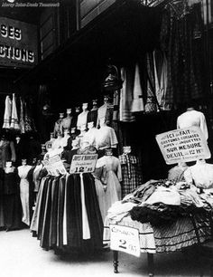 Parisian boutique, 1911, by Eugene Atget.