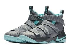 Factory Authentic Nike LeBron Soldier 11 Womens Grey Mint Basketball Shoe  For Sale c8d0e56d1
