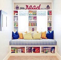 17 Cozy reading nooks... Perhaps I have pinned most of these before, but they deserve another mention. I need to find a place for a reading nook in my house.