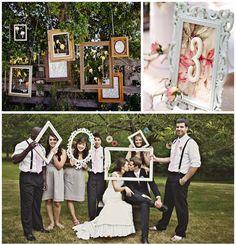 frames as wedding decoration