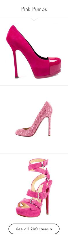 """Pink Pumps"" by melzy ❤ liked on Polyvore featuring Pink, Pumps, Heels, pinkpumps, pinkheels, shoes, pumps, heels, sapatos and fuschia pumps"