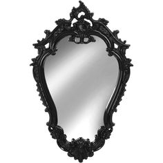 StyleCraft Lighting Victorian Mirror ($100) ❤ liked on Polyvore featuring home, home decor, mirrors, etc, black, black mirror, black ornate mirror, ornate mirror, victorian home decor and black home decor
