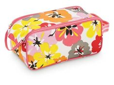 """All For Color Cotton Blossom Ladies Golf Shoe Bag by Room It Up. $20.00. Great for golf shoes, tennis shoes and athletic shoes. Dimensions: 11"""" x 5.5"""" x 5"""". Fully lined athletic shoe bag. Side carrying handle. All For Color Cotton Blossom Ladies Golf Shoe Bag. This stylish golf shoe bag is fully lined with an inside zippered pocket. Dual top closure with velcro closure. Side carrying handle. Dimensions: 11"""" x 5.5"""" x 5"""". Material: 100% Polyester., www.LadiesStylish.com"""