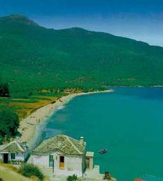 Kinira Beach, Island of Thassos, Greece Potos Thassos, Thasos, Match Boxes, Greek House, Outdoor Spa, Greece Islands, Greece Travel, Beautiful Islands, Beach Photos