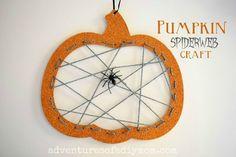 Pumpkin Spiderweb Halloween Craft Thanksgiving Crafts, Holiday Crafts, Holiday Fun, Halloween Sewing, Halloween Crafts For Kids, Easter Egg Crafts, Turkey Craft, Halloween Party Games, Pine Cone Crafts