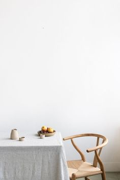 French Home Interior styling & photography by marieke verdenius Interior Styling, Interior Decorating, Interior Design, Slow Living, Retro Home Decor, Table Linens, Linen Tablecloth, Wishbone Chair, Entryway Decor