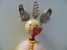 Coyote Totem  Spirit Doll  Coyote Totem Kachina  Handmade