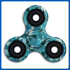 Tri-Spinner Fidget Toy Hand Spinner Camouflage Premium Quality EDC Focus Toy For Kids & Adults - Best Stress Reducer Relieves ADHD & Boredom - Fidget spinner (*Amazon Partner-Link)