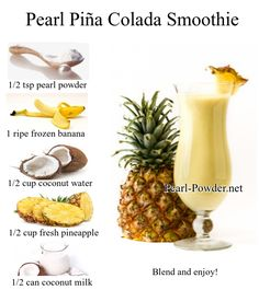 Nothing seems more like summer or a day at the beach than sipping on a Piña Colada.This healthy Piña Colada Smoothe is a delicious high protein, non alcoholic drink that will leave you dreaming of a spring or summer vacation. It is dairy free, all natural, Non GMO, and naturally sweetened. Cheers to you! Milk Cans, Water Pearls, Non Alcoholic Drinks, Frozen Banana, Pina Colada, Coconut Water, High Protein, Superfood, Cheers