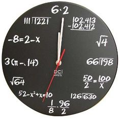 Quite possibly the nerdiest clock ever. I think it's awesome... and I HATE math.