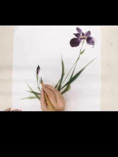 Sumi E Painting, Watercolor Painting Techniques, Watercolour Painting, Floral Watercolor, Orchids Painting, Japanese Painting, Chinese Painting, Chinese Art, Japanese Art