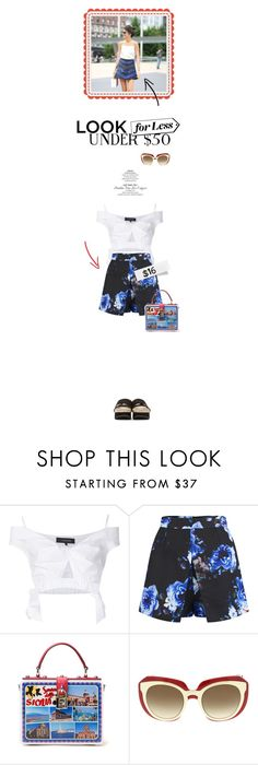 """Skirts Under $50"" by cultofsharon ❤ liked on Polyvore featuring Thakoon, Girls On Film, Dolce&Gabbana and Flamingos"