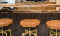 A gorgeous, space-saving, custom-made hardwood bar table. Live Edge Bar, Live Edge Table, Rustic Sofa Tables, Dining Table, Bar Top Tables, Living Furniture, Quality Furniture, Space Saving, Bar Stools