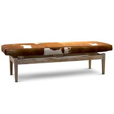 Marco Cowhide Bench - Large - Brown