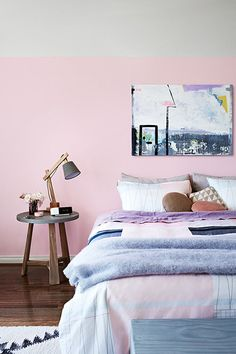 Cush and Nooks: Soft Pink vs Hot Pink | bedroom