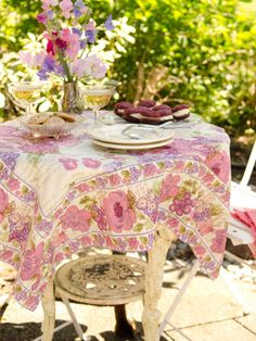 Dining On The Patio Inspired By April Cornell | April Cornell, Stone Patios  And Patio Table
