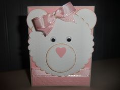 Baby girl card made with punches