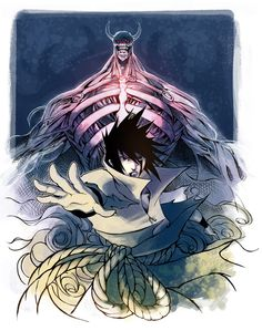 Commission: Sasuke and Susanoo by ai-eye.deviantart.com on @deviantART