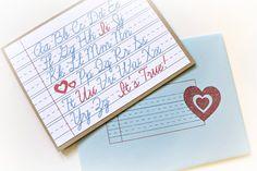 Elementary Love Notecard Set by bluebuttonpress on Etsy