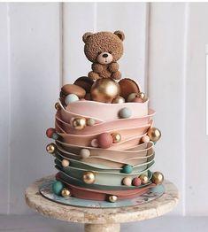 Creative Birthday Cakes, Beautiful Birthday Cakes, Baby Birthday Cakes, Elegant Birthday Cakes, Birthday Kids, 22nd Birthday, Birthday Parties, Happy Birthday, Beautiful Cake Designs