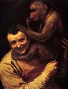 A Man with a Monkey Galleria degli Uffizi Firenze  #TuscanyAgriturismoGiratola