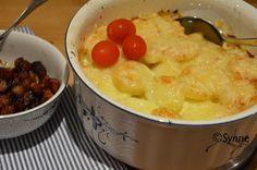 ganske enkelt: Torsk og fennikelform med potetlokk