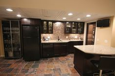 Merillat Classic Bar designed by Mans Lumber & Millwork's Kitchen and Bath department.