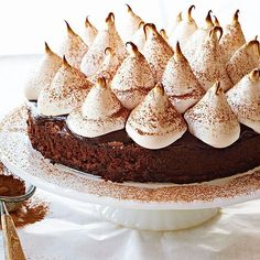 Hot Cocoa Brownie Cake from @Gayle Roberts Merry Homes and Gardens