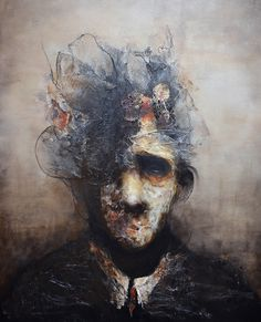 "Interpretations of Lyon based Eric Lacombe's mixed media works and paintings have been varied and extreme: monstrous, melancholy, horrific, and even beautiful. Describing his art as ""ca…"
