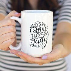 Mug - Call me boss lady - 15 oz mug