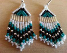 Thunderbird Colored Native American Beaded Earrings