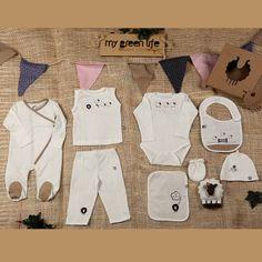 Set Recién Nacido - Crema Puntos Blancos