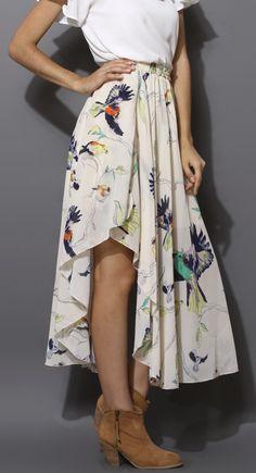 Bird print skirt