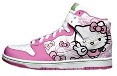 Cute Girls Nikes Shoes Hello Kitty Dunks Pink White