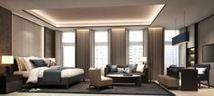 zonas: estar + despacho. Techo SCDA Hotel Development, Gurgaon, India- Superior Guestroom