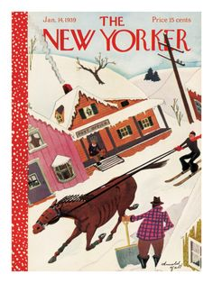 The New Yorker Cover - January 14, 1939 Giclee Print by Arnold Hall at Art.com