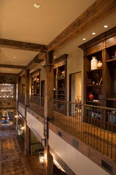 Rustic Lodge style home - rustic - hall - houston - by Collaborative Design Group-Architects & Interiors