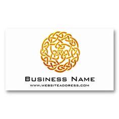 31 best business cards celtic irish images on pinterest irish celtic golden symbol 1 elegant business cards reheart Images