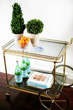 Vintage Bar Cart $300 - Toronto http://furnishly.com/catalog/product/view/id/3330/s/vintage-bar-cart-300/