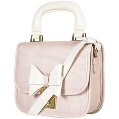 Croc Trim Bow Bag ($50) ❤ liked on Polyvore featuring bags, handbags, shoulder bags, purses, accessories, topshop, pink shoulder bag, shoulder strap bag, pink handbags and bow purse
